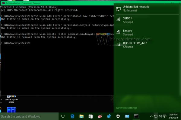 Windows 10 wireless network list restored
