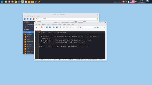 XFCE4 taskbar icon not dimmed