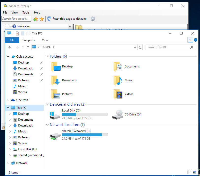 how to change default instal folder windows 10