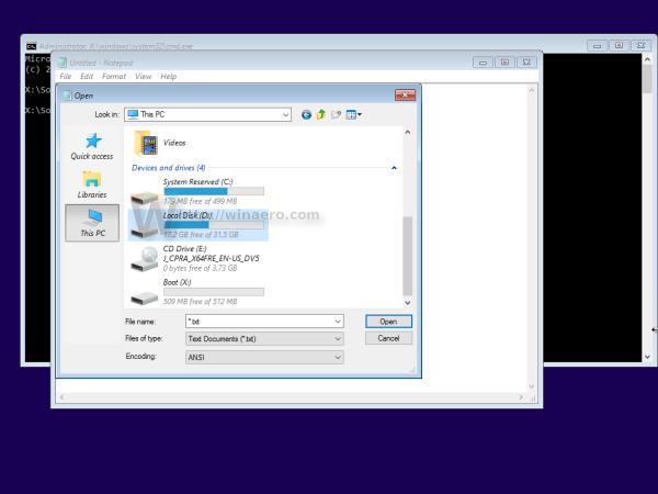 Windows 10 notepad this pc