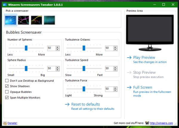 Windows 10 screensavers tweaker