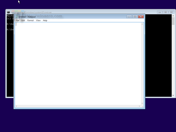 Windows 10 setup cmd notepad