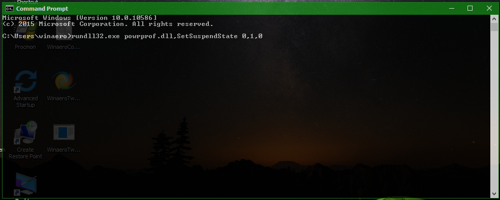 How to sleep Windows 10 from the command line
