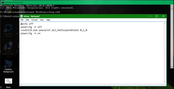 Windows 10 sleep command 2