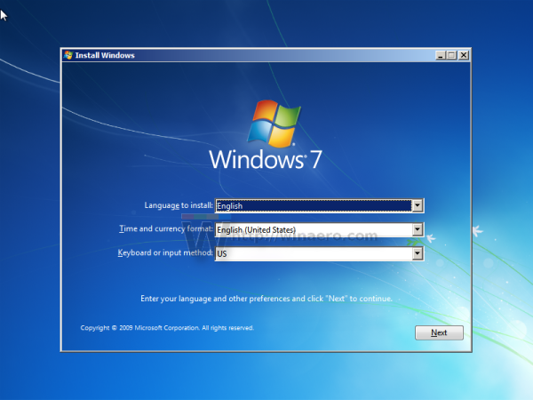 Windows 7 boot from CD