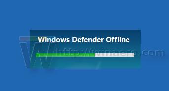 Windows Defender offline scan is starting