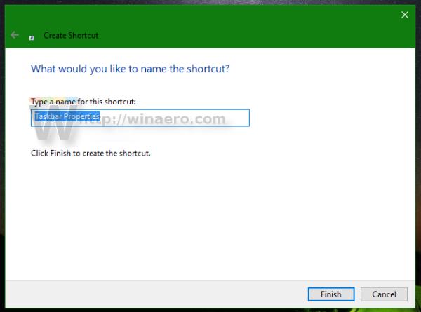 name the shortcut