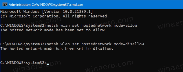 Disable Mobile Hotspot In Command Prompt