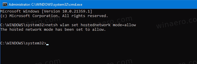 Enable Mobile Hotspot In Command Prompt