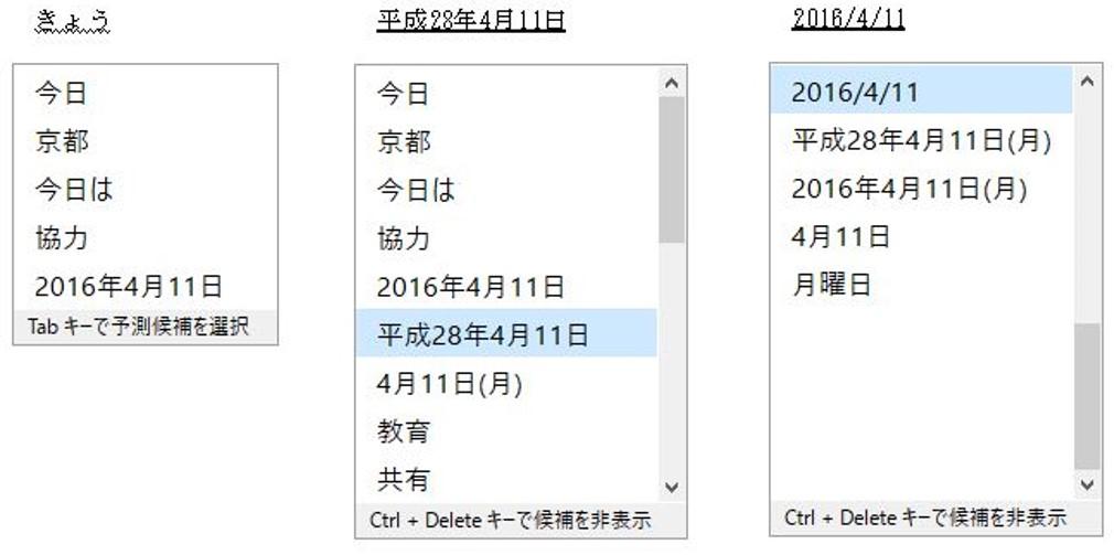 Prediction capability enhancements on Japanese IME