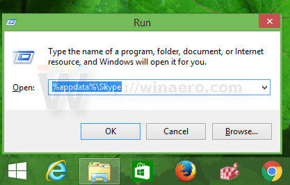 Open skype profile folder