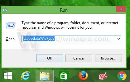 Open skype profile folder