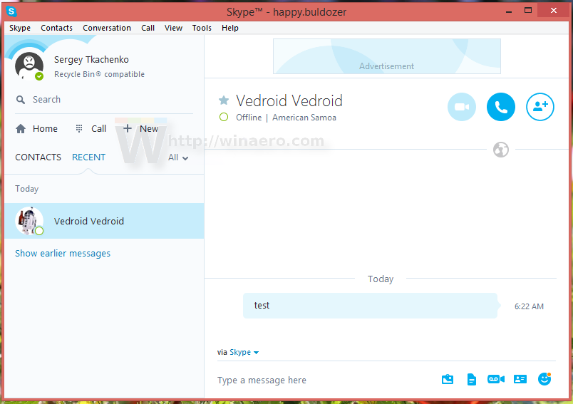 how to clear my skype home page