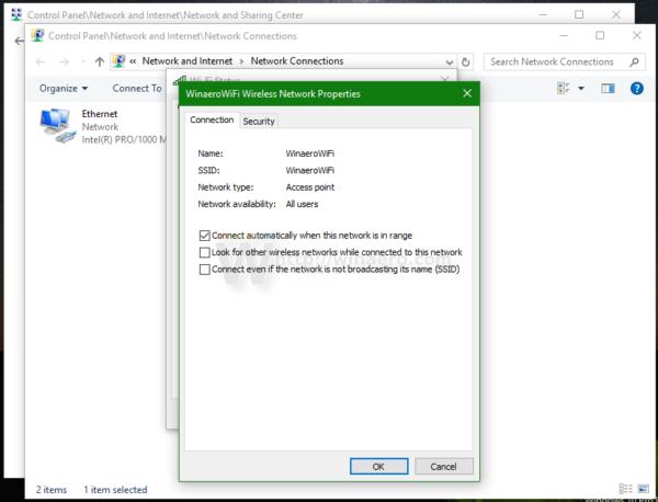 Windows 10 WIFI properties 1