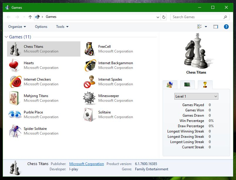 how to install windows 7 games on windows 8.1