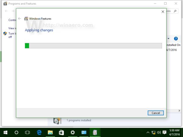 Windows 10 installing bash