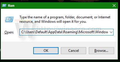 Windows 10 run dialog open send to