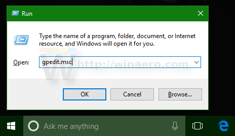 Windows 10 run gpedit