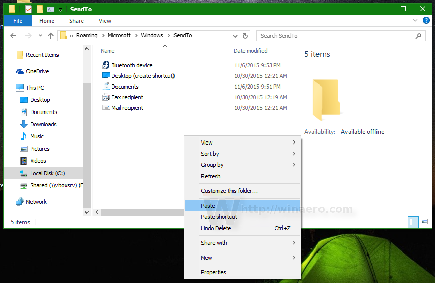 Fix Send to Compressed (zipped) folder is missing in Windows