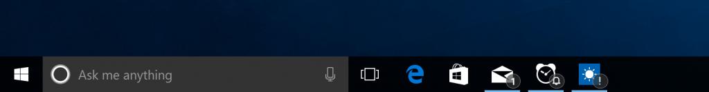 Taskbar badging