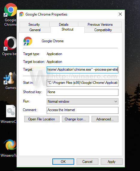 Chrome enable process-per-site