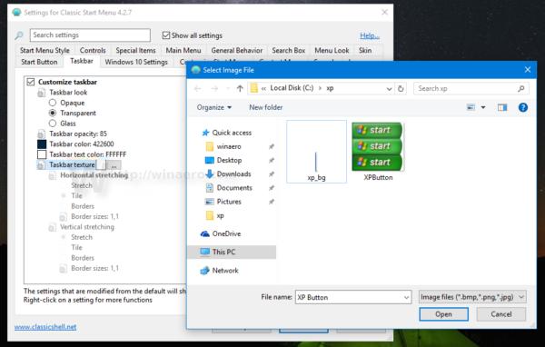 Classic shell xp taskbar bg