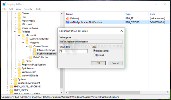 Disable Live Tiles all at once in Windows 10 Start menu reg tweak