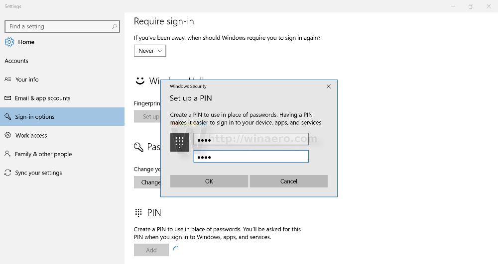 windows 10 pin login greyed out