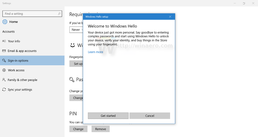 Fix Fingerprint set up button is grayed out in Windows 10