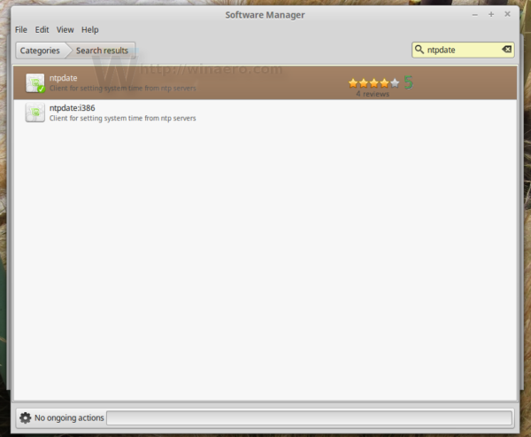 Linux Mint install ntpdate