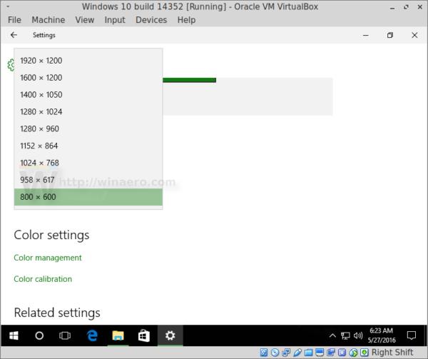 VM display modes