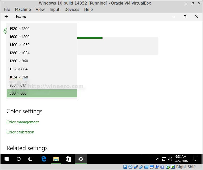 Set exact display resolution in VirtualBox virtual machine