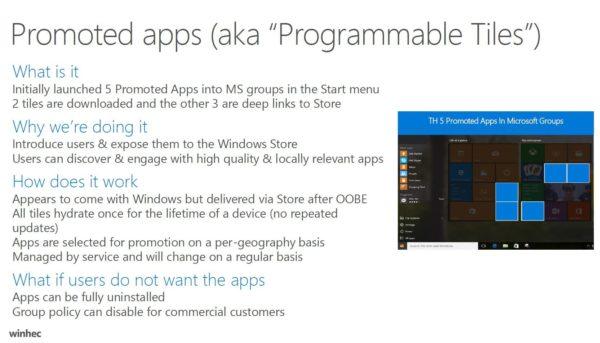 Windows 10 anniversary update programmable tiles