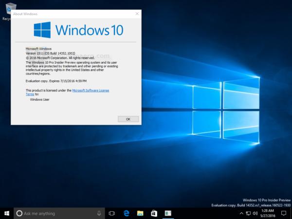Windows 10 build 14352