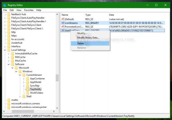 Windows 10 fix tray icons