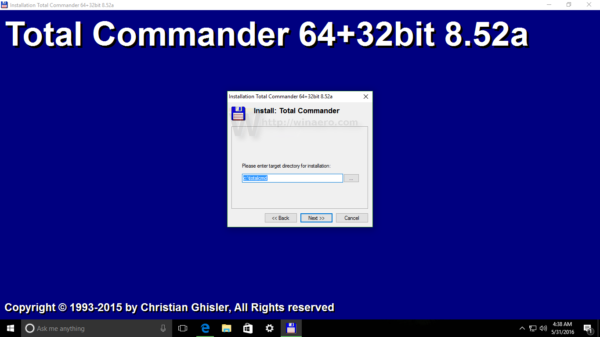 Windows 10 install total commander