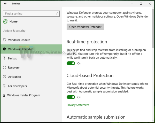 how to disable or enable windows defender enhanced notifications in windows 10. Black Bedroom Furniture Sets. Home Design Ideas