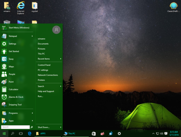 Windows 10 taskbar font color