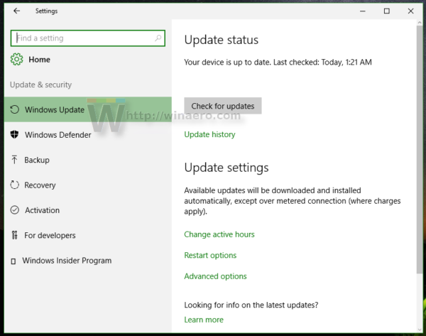 Windows 10 update security opened