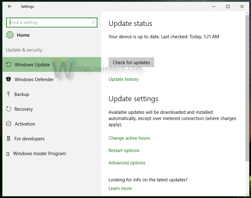 Stop Windows 10 from sharing updates over your Internet