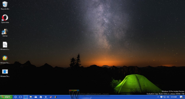 Windows 10 with XP taskbar