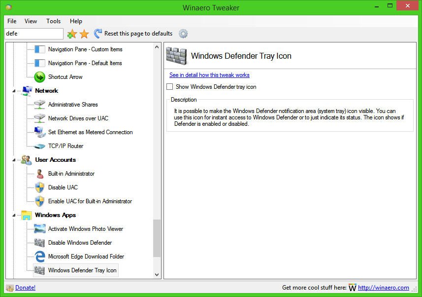 how to turn on windows defender in windows 8.1 pro