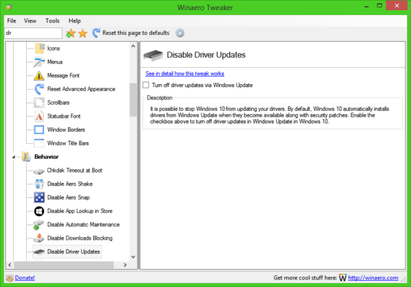 disable driver updates redstone