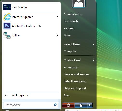 07 Vista start menu 3