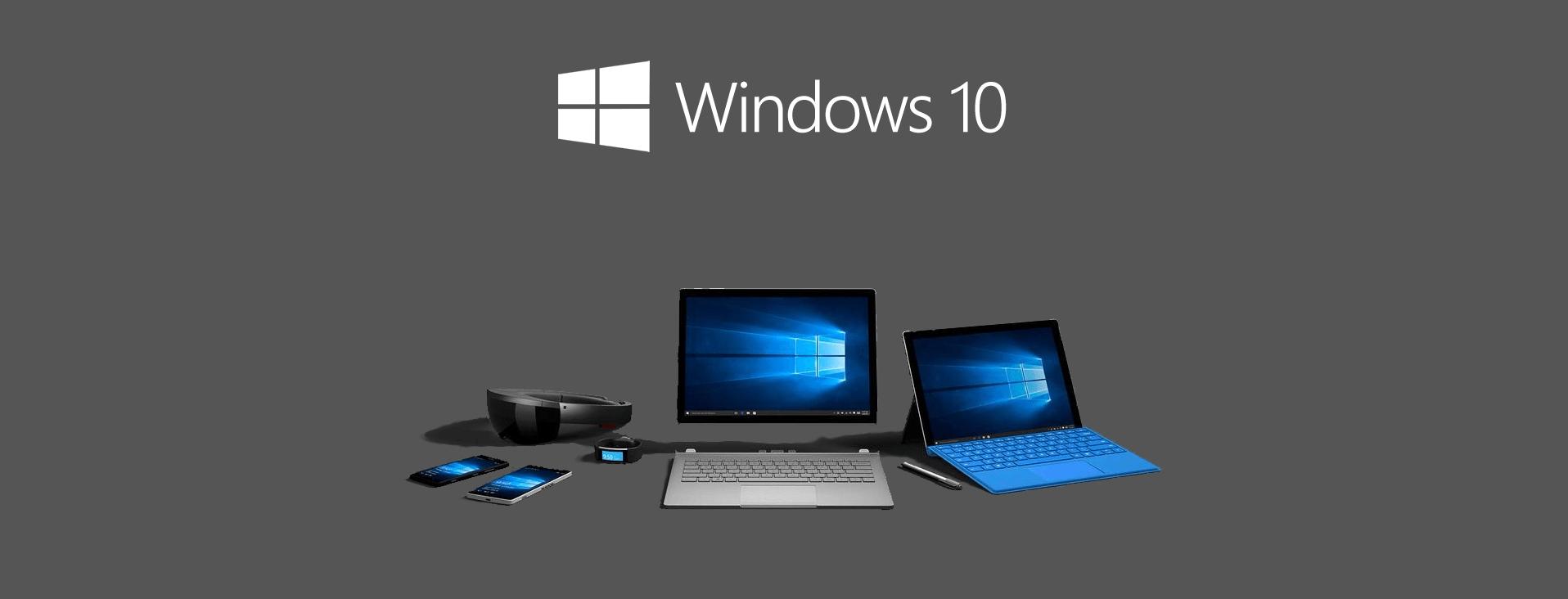 Devices Windows 10 update setup banner