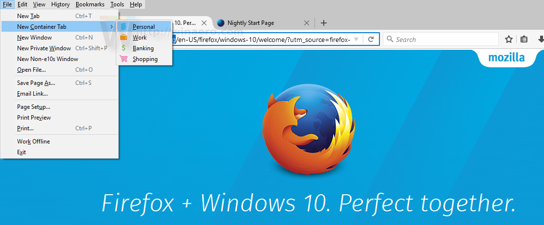 First Look at Containers Feature in Firefox