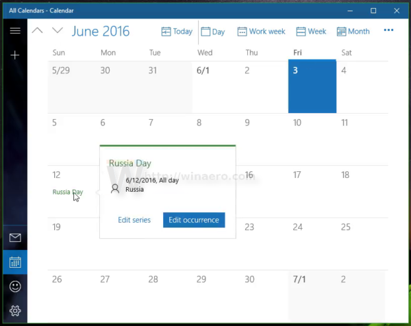 Make Windows 10 Calendar show national holidays 1