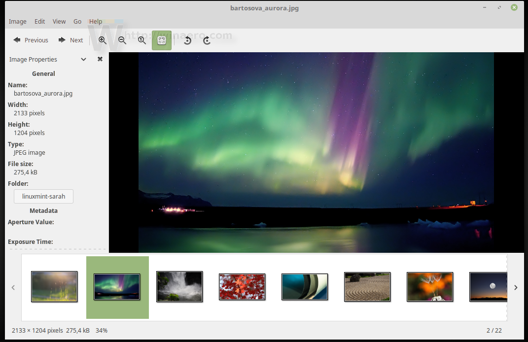 Install Previous Wallpapers in Linux Mint 19