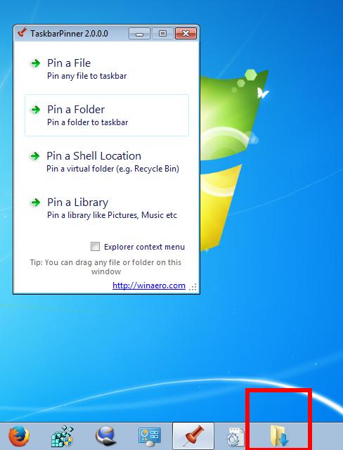 Running Windows 7? Taskbar Pinner is a must have app for you