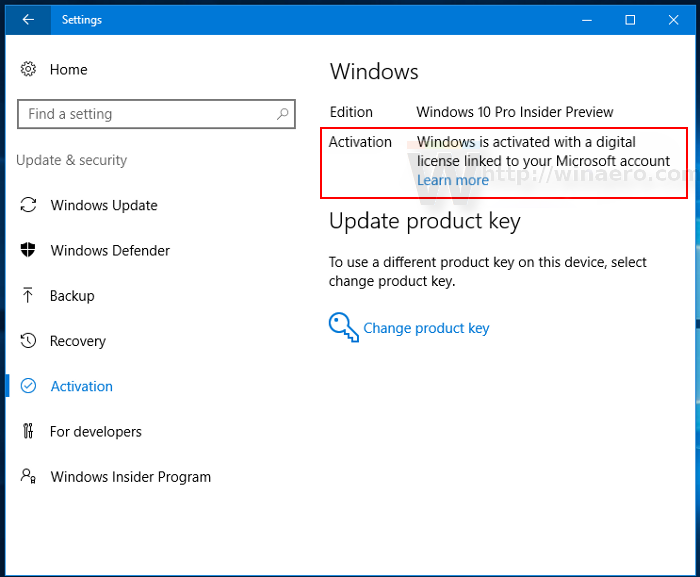 microsoft windows 10 pro activation key